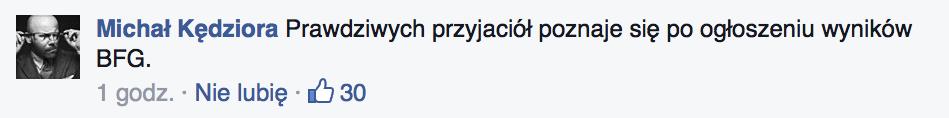 Płacz na Facebooku #BFGdansk