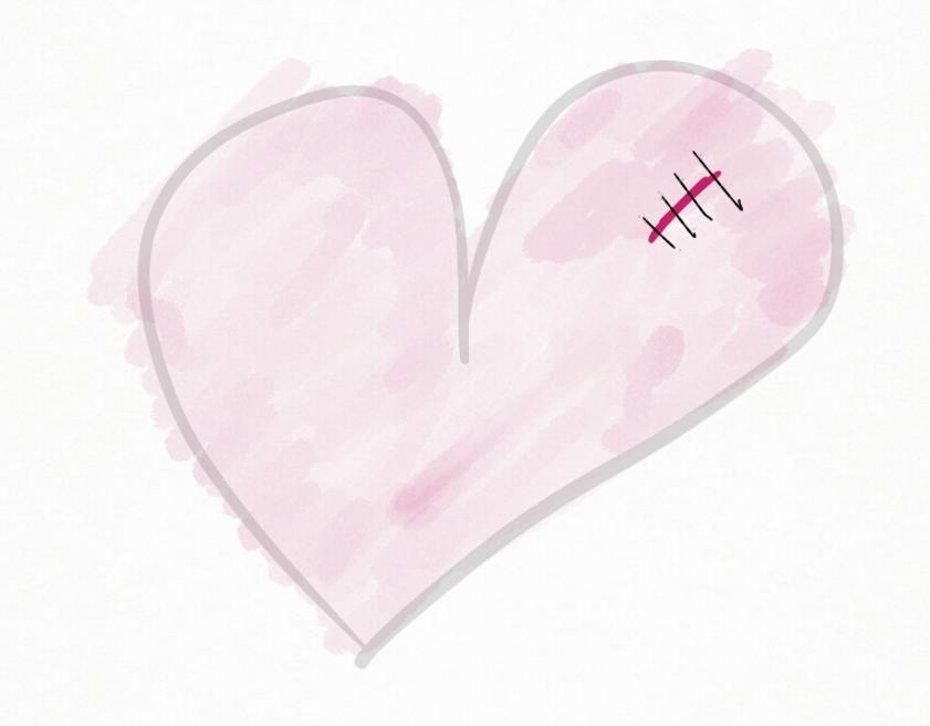 serce smutno