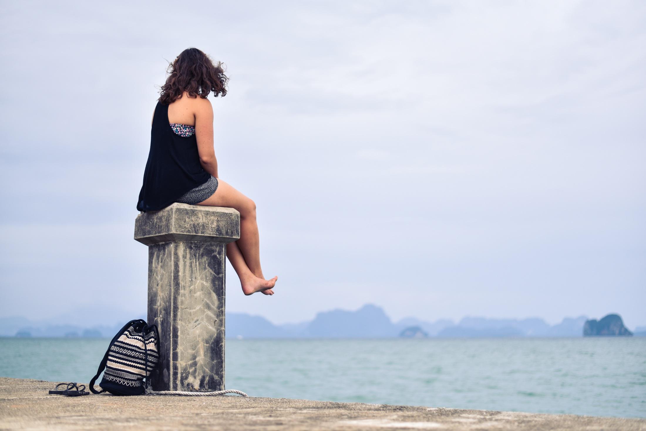 odleglosc morze kobieta milosc