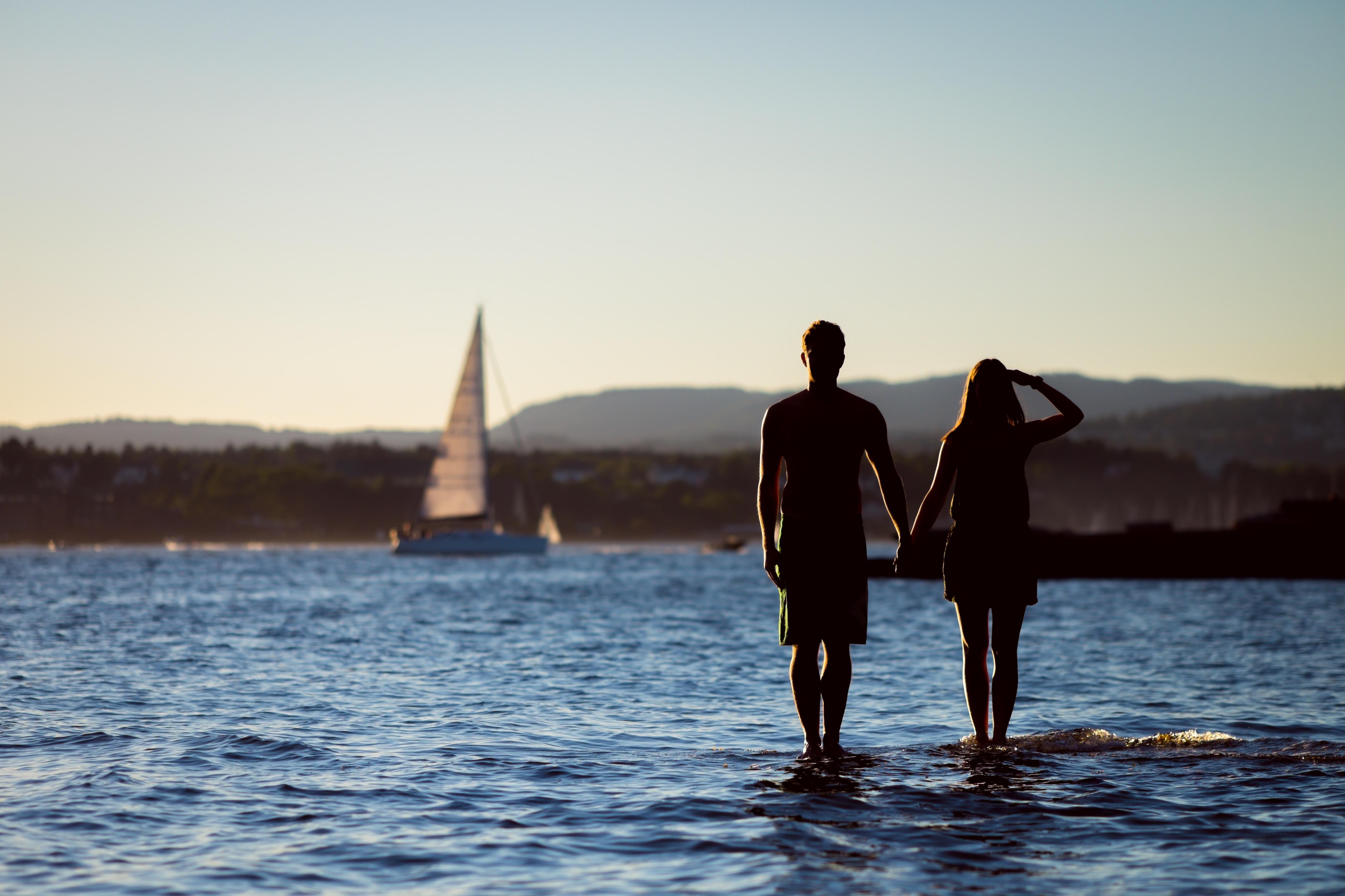 para jezioro miłość