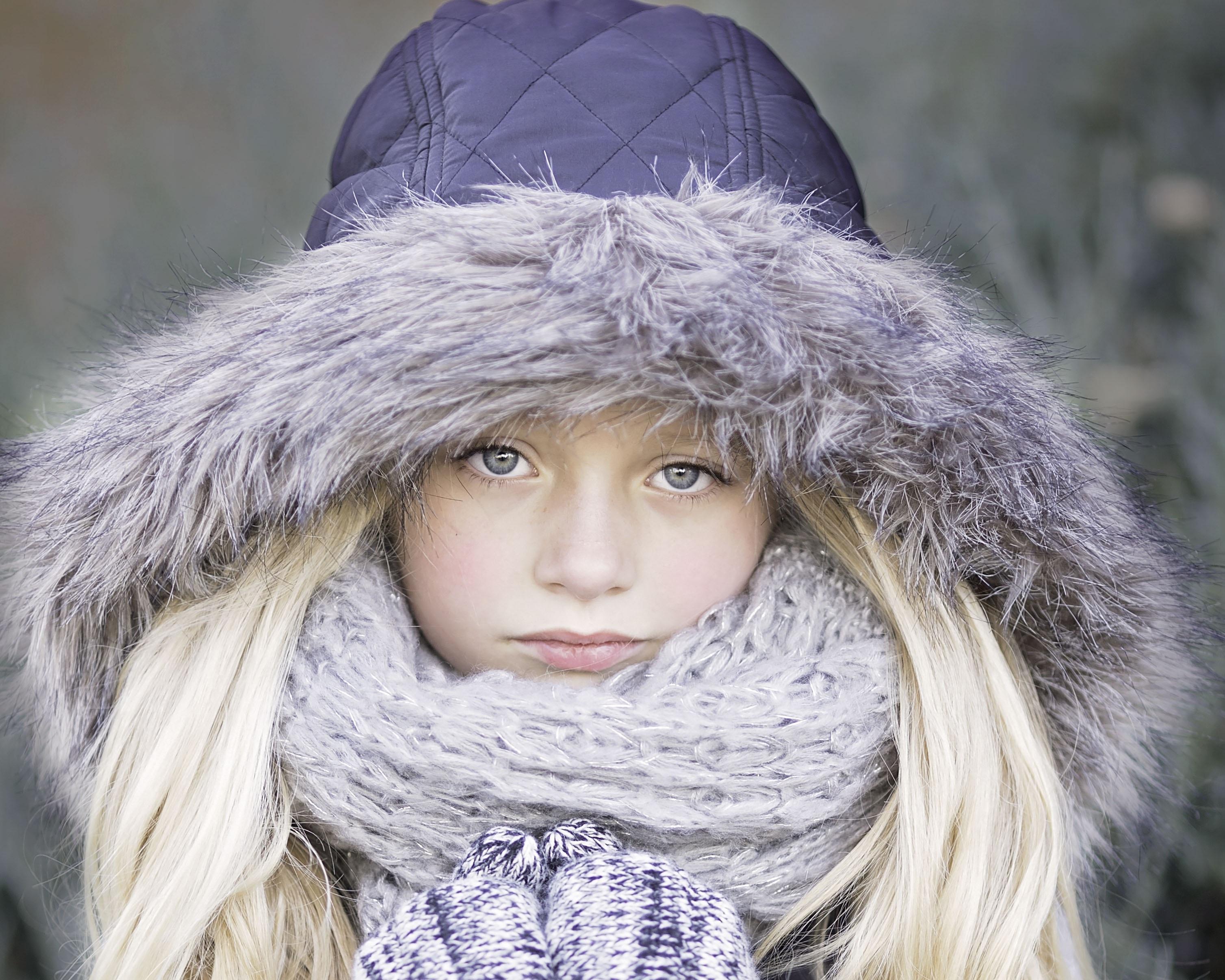 zima dziewczynka
