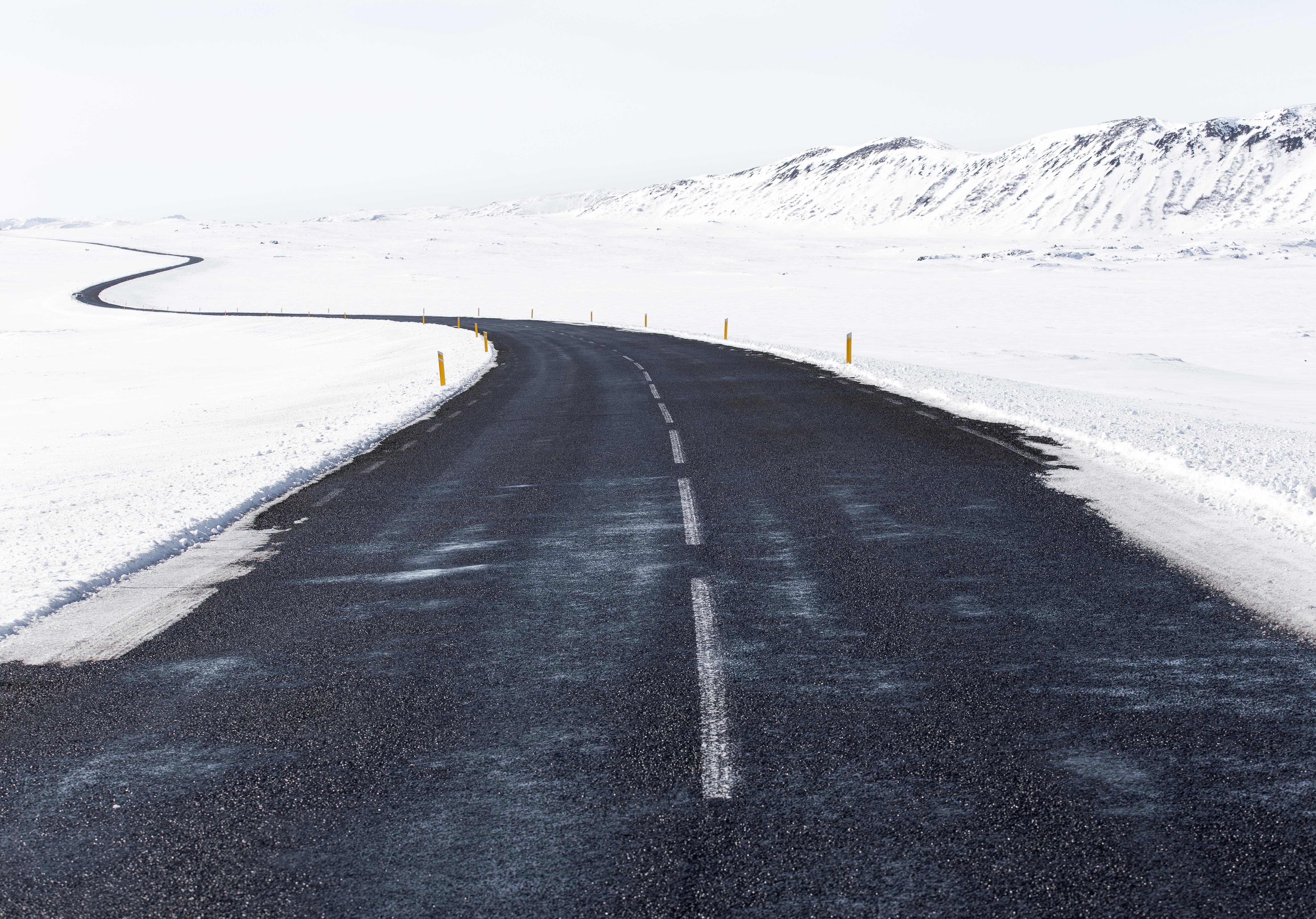 ulica śnieg