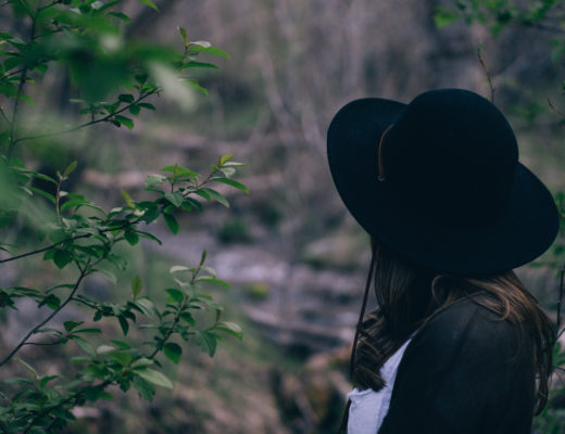 dziewczyna kapelusz